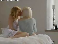 Swedish blonde girl2girl make true love