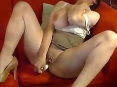 Busty amateur Milf masturbation