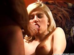 Naughty porn blonde hot chick gets fucked hard doggystyle