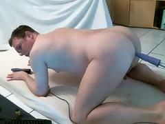 fat gay with sex machine