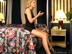 Adorable lesbian in high heels fingering tight juicy pussy in close up shoot