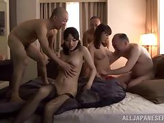 Icy hot Asian sex dolls get pounded till orgasm in savory orgy