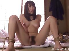 Japanese hairy snatch drilled barebacked by an older guy