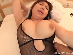 After a blowjob Iroha Suzumura gets her hairy snatch poked