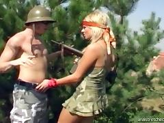 Guerilla girl gets her gaping asshole penetrated hard