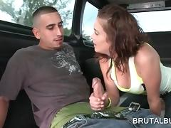 Bus, Amateur, Blowjob, Bus, Couple, Handjob