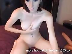 Big Tit Redhead Huge Dildo Orgasm