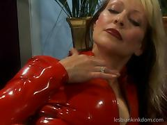 Corn cob, latex, two mature lesbians, need we say more ?
