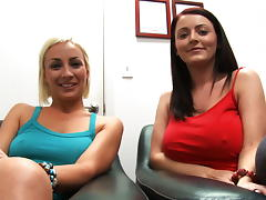 Lexi Swallow & Sophie Dee Attacks The Cock!