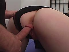 Stunning dame with nice ass getting screwed hardcore doggy style in closeup shoot