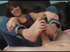 soooo sexi girl footjob