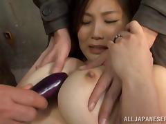 Being wrecked by three Japanese bums armed with a dildo