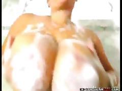 Huge boobs cam girl teasing webcam