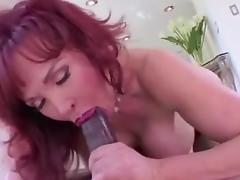 Mature redhead Milf fucking black cock