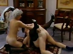 Young guy banging tow grannies in a threesome