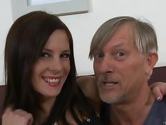 Leony Dark gets fucked in a hot blowjob and bang action