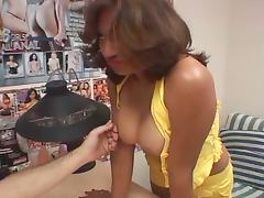 Amateur interview for young asian babe gets her pussy the job