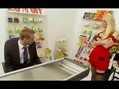 British Milf fucked in supermarket