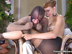 PantyhoseJobs Video: Aubrey and Herbert