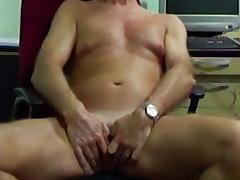 Transman spreading open and gently fingering frontal hole