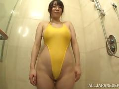 Shower, Asian, Big Tits, Glasses, Hairy, Japanese