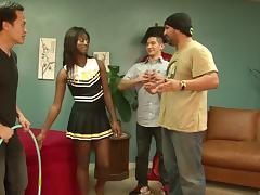 Cheerleader, Black, Blowjob, Cheerleader, Cowgirl, Doggystyle