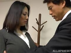 Asian Mature, Asian, Big Tits, Blowjob, Bra, Couple