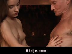 Old and Young, Blowjob, Couple, Cumshot, Facial, Fingering