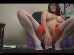 Camgirl Destroys Her Ass and Pussy