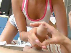 Eniko & Jenny in two super hot chicks fucking one endowed guy