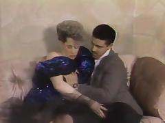 Ravishing cowgirls getting slammed hardcore in a retro groupsex clip