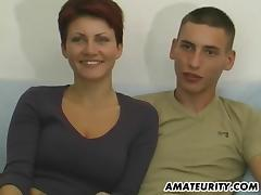 Young amateur couple fisrt blowjob on camera