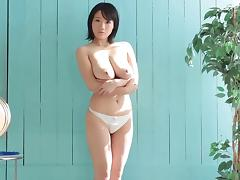 A hot Japanese MILF with big tits enjoying some hard dick