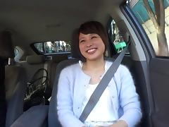 A road trip ends with this Japanese girl getting fucked hard