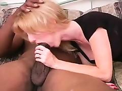 Blonde Woman Having Oral Fun With A BBC