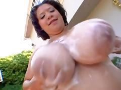bbw latina in the pool