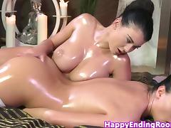Oiled massage babe love rubbing pussy