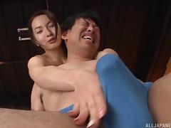 Wet massage quickly makes her pussy moist and craving a cock