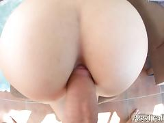 Ass Traffic blonde loves doggystyle anal fucking