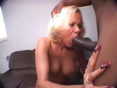 blond milf with long nails giving blowjobs