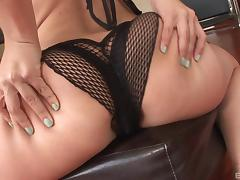 Wide ass hottie Kristina Rose anally impaled on BBC