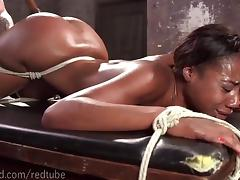 Amazing Ebony Ass Bondage
