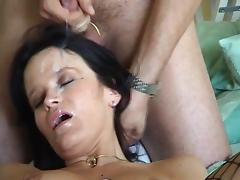 Swinger wife gets a nice facial