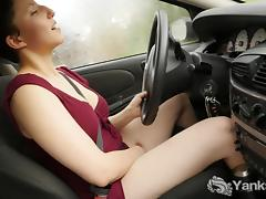 Car, Amateur, Big Tits, Boobs, Car, Masturbation