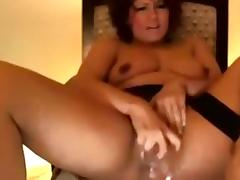Getting excited, fucking toy in my webcams amateur vid