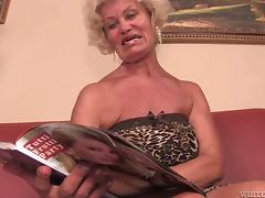 Good looking granny uses her vast experience to please a 20 y.o. guy