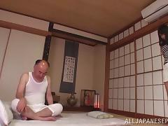A much older guy gets to fuck sexy Mao Hamasaki deep and hard