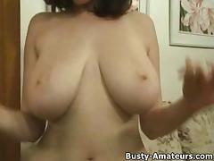 Kathryns playing her tits and pussy