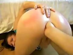 slut anal fist gag deepthroat gape