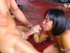 German Fuck Thai Whore Without Condom at Work